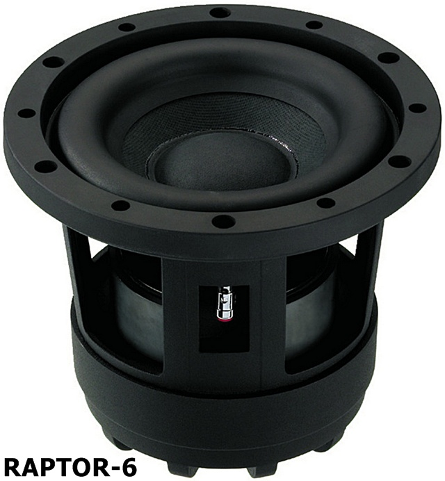 raptor 6 subwoofer kickbass monacor carpower raptor 6 ebay. Black Bedroom Furniture Sets. Home Design Ideas