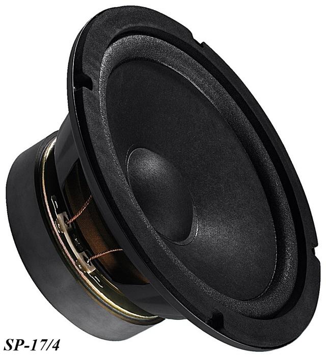 Mitteltöner SPP-110//4 60Wmax 90db//W 4Ohm 110mm 2 Stück Monacor Kompakt Tief